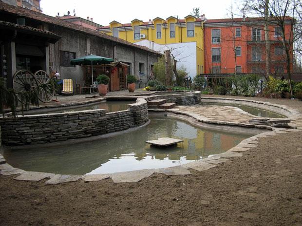 Allestimento laghetto for Eliminare acqua verde laghetto